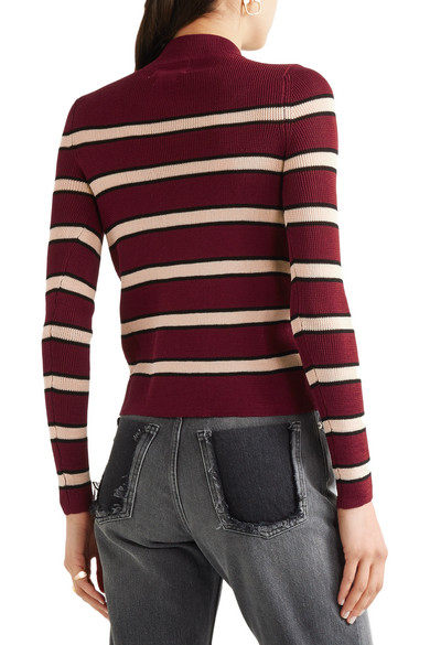 Isabel Marant Étoile. Devona striped stretch-knit sweater. $81. Play