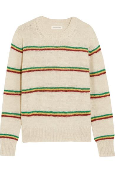 Étoile Isabel Marant - Goya Striped Alpaca-blend Sweater - Ecru