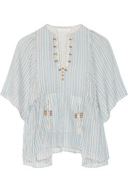 Étoile Isabel Marant Joy embroidered striped cotton top
