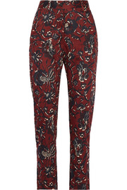 Étoile Isabel Marant Janelle printed cotton tapered pants