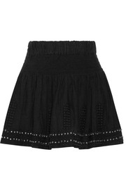 Étoile Isabel Marant Alea embellished cotton-blend gauze mini skirt