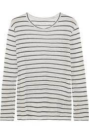 Étoile Isabel Marant Aaro linen and cotton-blend slub jersey top
