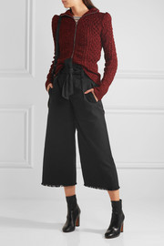 Étoile Isabel Marant Odea cropped cotton-twill wide-leg pants