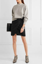 Étoile Isabel Marant Olga cotton-twill wrap mini skirt