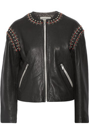 Étoile Isabel Marant Buddy embellished leather jacket