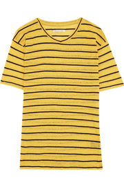 Étoile Isabel Marant Andreia striped slub linen and cotton-blend jersey T-shirt