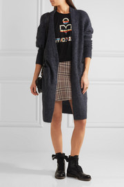 Étoile Isabel Marant Jevil plaid linen mini skirt