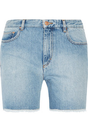Étoile Isabel Marant Cedar frayed denim shorts