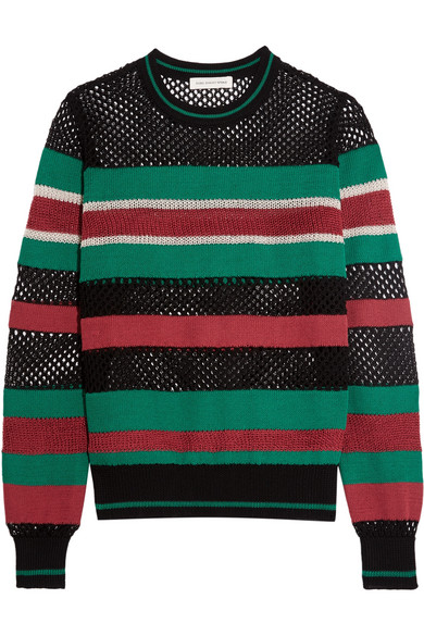 Étoile Isabel Marant - Deacon Striped Knitted Sweater - Black