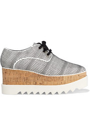 Elyse woven faux leather platform brogues