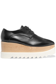Elyse faux glossed-leather platform brogues