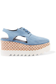 Stella McCartney Elyse denim platform brogues