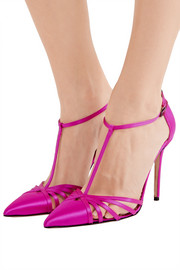 Carrie satin pumps