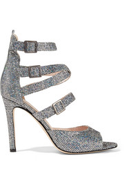 Fugue glittered leather sandals