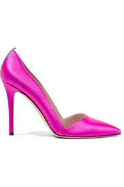 Rampling satin pumps