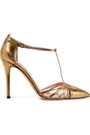 Carrie metallic leather pumps
