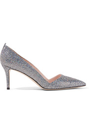 Rampling glittered leather pumps