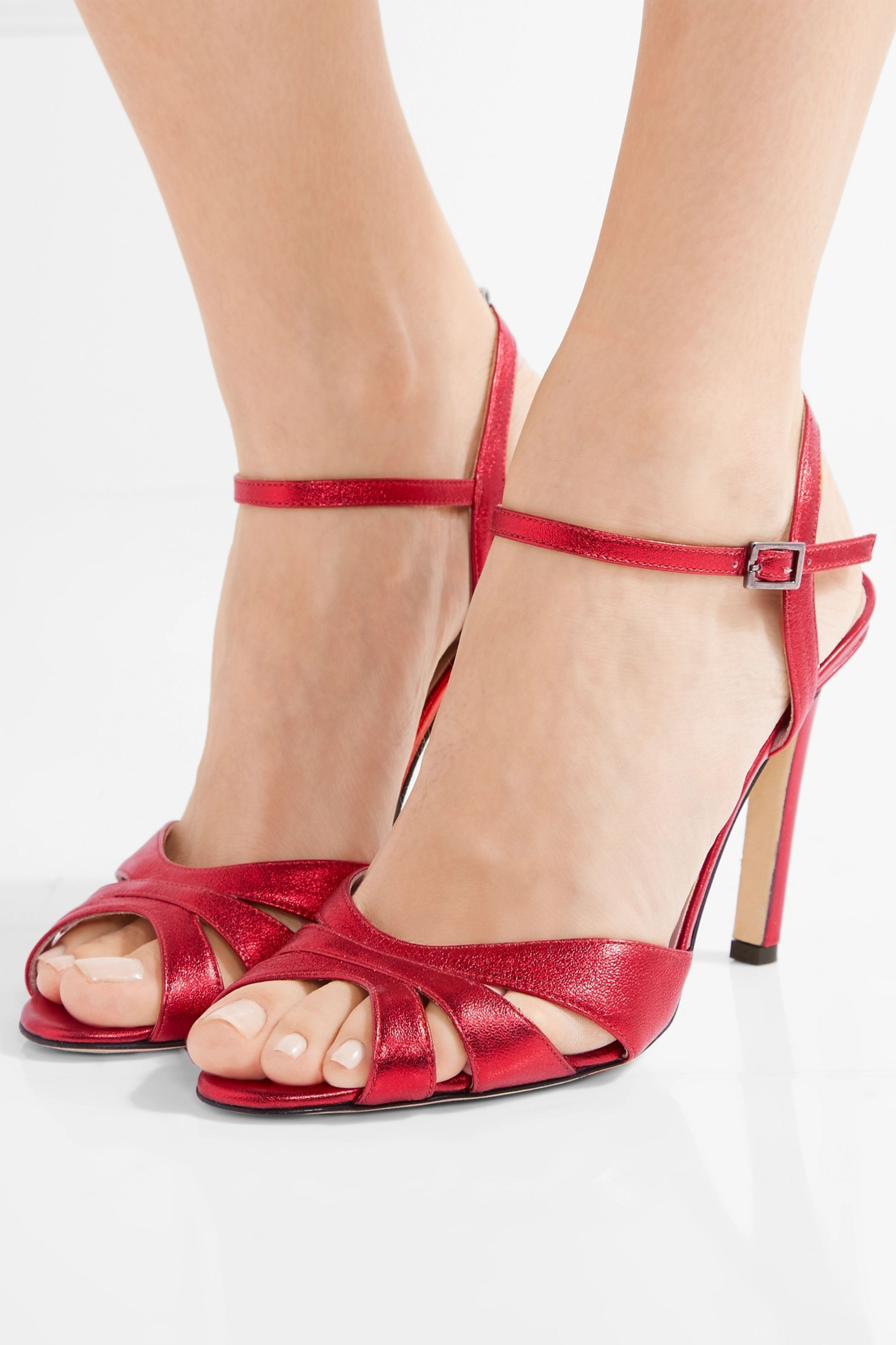 SJP By Sarah Jessica Parker Westminster metallic leather sandals