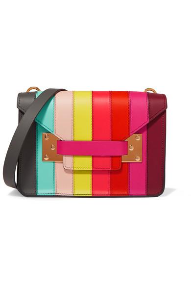 Sophie Hulme - Milner Mini Paneled-leather Shoulder Bag - Red