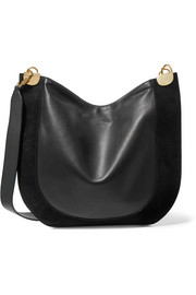 Diane von Furstenberg Moon leather and suede shoulder bag