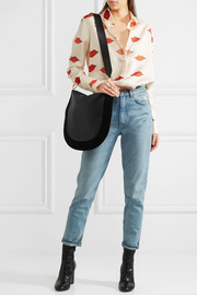 Moon leather and suede shoulder bag