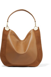 Diane von Furstenberg Moon suede-trimmed leather shoulder bag