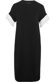 CLU Crepe-trimmed slub stretch-jersey dress
