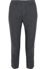 The Great The Miner cropped twill straight-leg pants