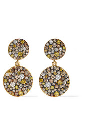Ileana Makri Double Disc 18-karat gold diamond earrings