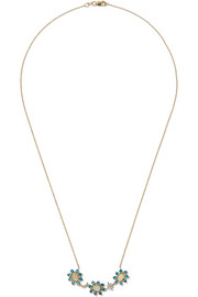 Ileana Makri Night Flower 18-karat gold multi-stone necklace