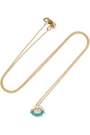 Ileana Makri 18-karat gold, opal and turquoise necklace