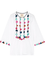 Zita tassled cotton-voile blouse