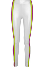 Kihi striped metallic stretch-jersey leggings