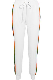 No Ka'Oi Poni striped stretch-jersey and mesh track pants