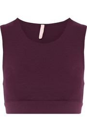Lani stretch-jersey sports bra