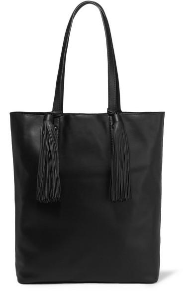 loeffler randall female loeffler randall cruise tasseled leather tote black