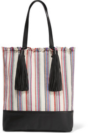 Cruise striped canvas and leather tote