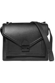 Rider medium textured-leather shoulder bag
