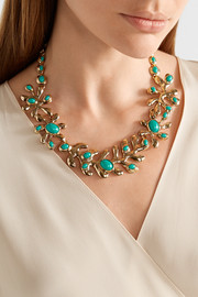 Oscar de la Renta Sea Tangle gold-tone resin necklace
