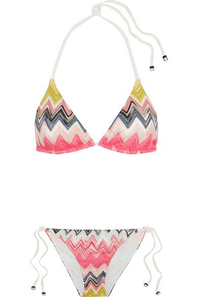 Missoni - Crochet-knit Bikini - Pink