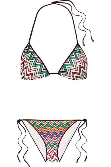 Missoni - Crochet-knit Halterneck Bikini - White