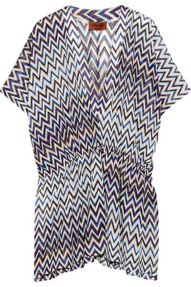 Missoni - Metallic Crochet-knit Kaftan - Purple