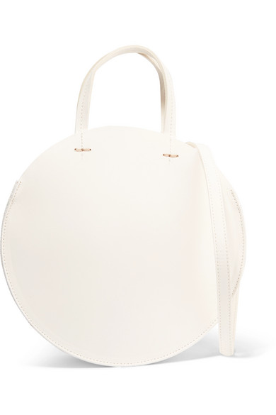 Clare V - Alistair Leather Shoulder Bag - White