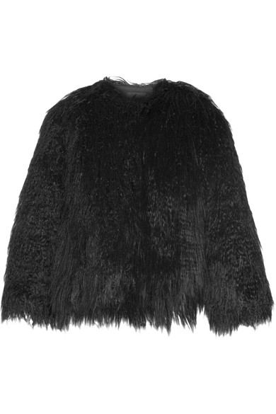 Theory - Elstana Faux Shearling Jacket - Black