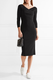Theory Daverin wrap-effect stretch-knit dress
