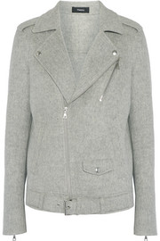 Theory Tralsmin double-faced wool and cashmere-blend biker jacket