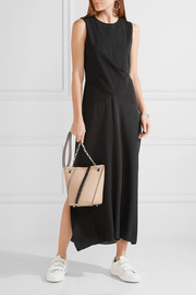 Theory Parthernia draped jersey and silk maxi dress
