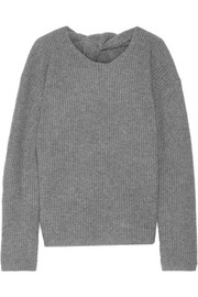 Twylina split-back ribbed cashmere sweater