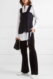 Theory Caroleena stretch-cotton velvet flared pants