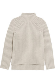 Theory Ribbed wool-blend turtleneck sweater
